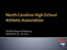 Region 2 - North Carolina High School Athletic Association