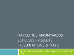 Narcotics Anonymous Schools Projects