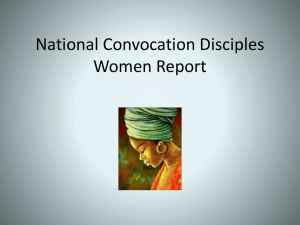 National Convocation Disciples Women Report