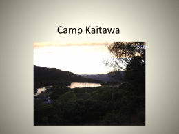 Camp Kaitawa - Gisborne Central School