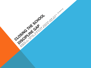 Closing the School Discipline Gap