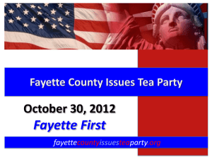 Enrollment Forecast - Fayette County Issues Tea Party