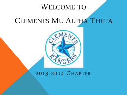 Welcome to Clements Mu Alpha Theta - Clements MAΘ