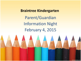 Kindergarten Information Night Presentation