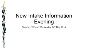 New Intake May 2014