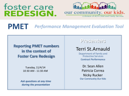 PMET webinar - Our Community. Our Kids.