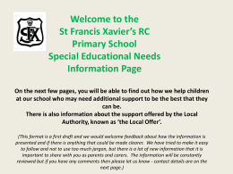 PowerPoint version - St Francis Xavier`s RC Primary School