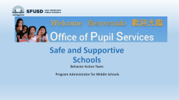Safe and Supportive Schools presentation prepared by