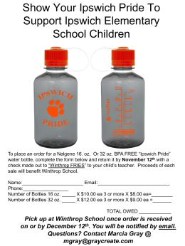 Order form for bottles