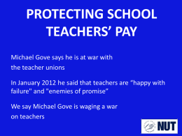 pay - National Union of Teachers