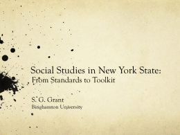 Social Studies in New York State: