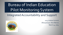 Pilot Monitoring System - Center on Innovations in Learning