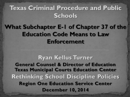 Texas Criminal Procedures - PP