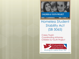 Homeless Student Stability Act Presentation before House