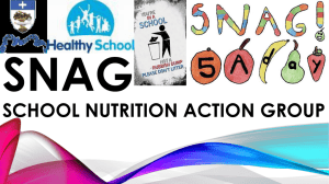 SNAG SCHOOL Nutrition Action Group