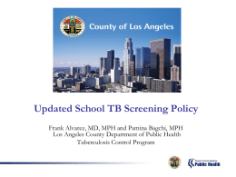 Updated School TB Screening Policy