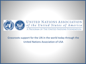 """United Nations 101"" Downloadable Presentation"