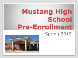 Freshman Enrollment for the year 2015-2016