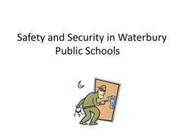 shelter in place - Waterbury Public Schools
