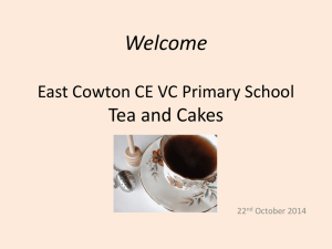 Welcome East Cowton CE VC Primary School Tea and Cakes