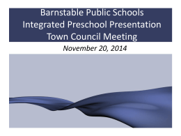 Early Learning Center - Barnstable Public Schools