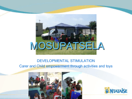 Career and Child empowerment through activities and toys