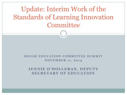 Update on the Standards of Learning Innovation Committee