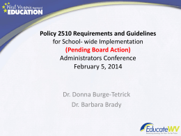 Policy 2510 Powerpoint - Career and Technical Education