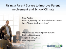 Using a Parent Survey to Improve Parent Involvement & School
