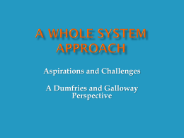 A Whole System Approach - Centre for Youth & Criminal
