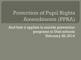 Protection of Pupil Rights Amendments (PPRA)