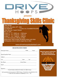 Thanksgiving Skills Clinic registration form