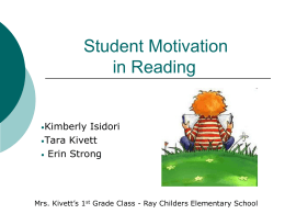 Student Motivation in Reading