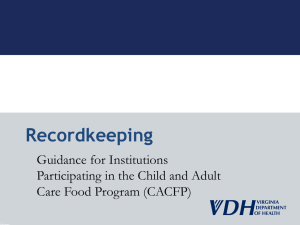 Recordkeeping - Office of Family Health Services