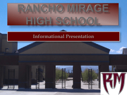 File - Rancho Mirage High School