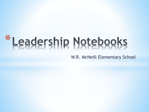 Leadership Notebooks