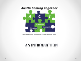 Engineering - Austin Coming Together