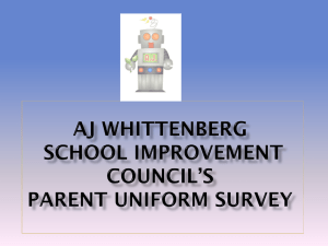 AJ Whittenberg SIC Parent Uniform Servey