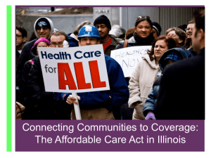 Connecting Communities to Coverage: The Affordable