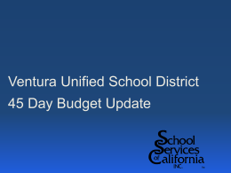 2014-15 45-Day Budget Update Presentation