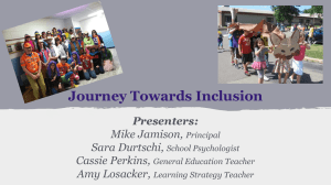 Journey Towards Inclusion Presenters