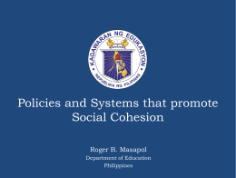 Policies that promote social cohesion