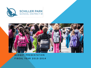 Budget Presentation - Schiller Park School District 81