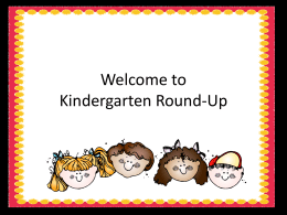 Kindergarten Round-Up - Katy Independent School District