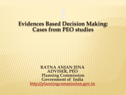 Evidence Based Decision Making - International Initiative for Impact