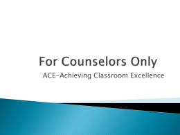 ACE - Oklahoma Department of Career and Technology Education