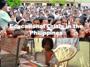 Educational Crisis in the Philippines Power Point