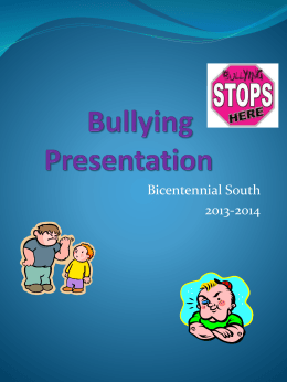 Bullying 2013-2014 - Glendale Elementary School District