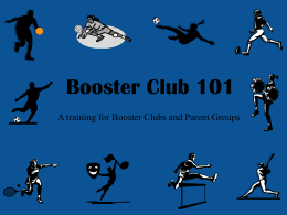 Booster Club 101 - Lewisville Independent School District