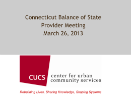 CT BOS CoC Powerpoint - Corporation for Supportive Housing